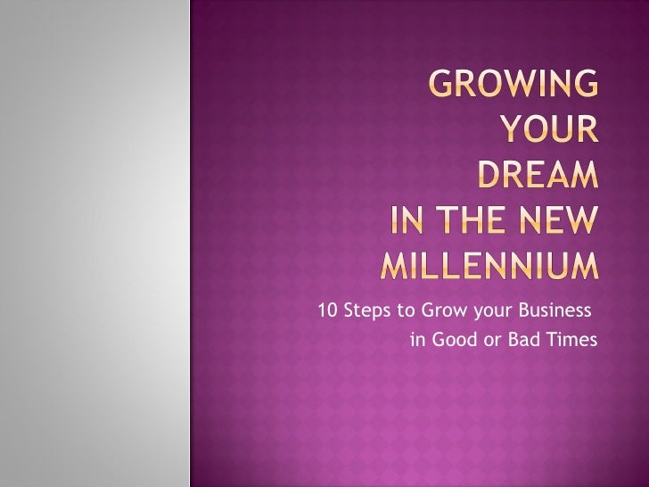 Growing Your Business Dream