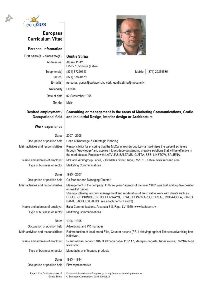 Guntis Stirna CV
