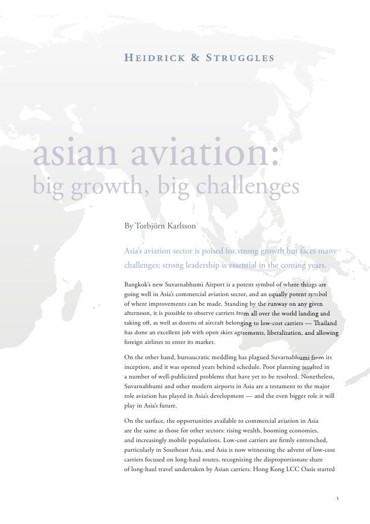 Asian Aviation: Big Growth, Big Challenges