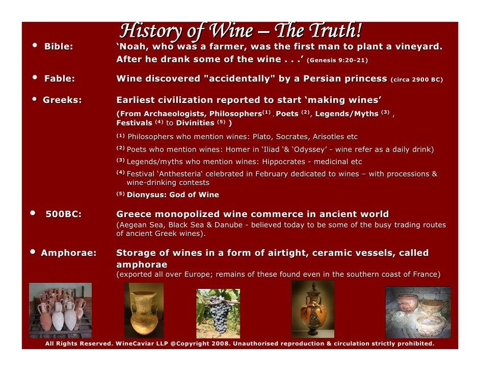 History Of Wines (Summary)