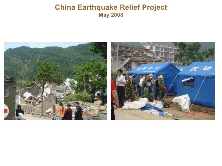 China Earthquake Relief Project May 2008