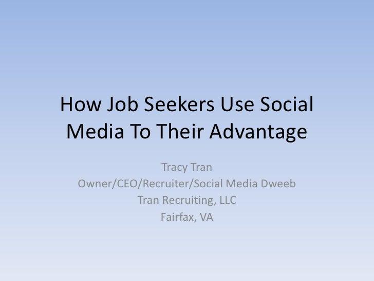 How Job Seekers Use Social Media