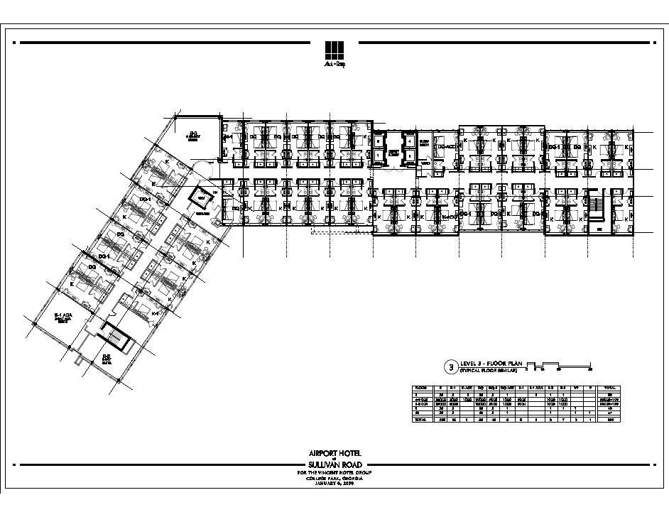 Hyatt Regency Atlanta Floor Plan | Plumbing Plan