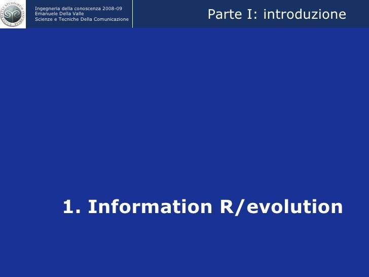 IC2009 Information R-Evolution