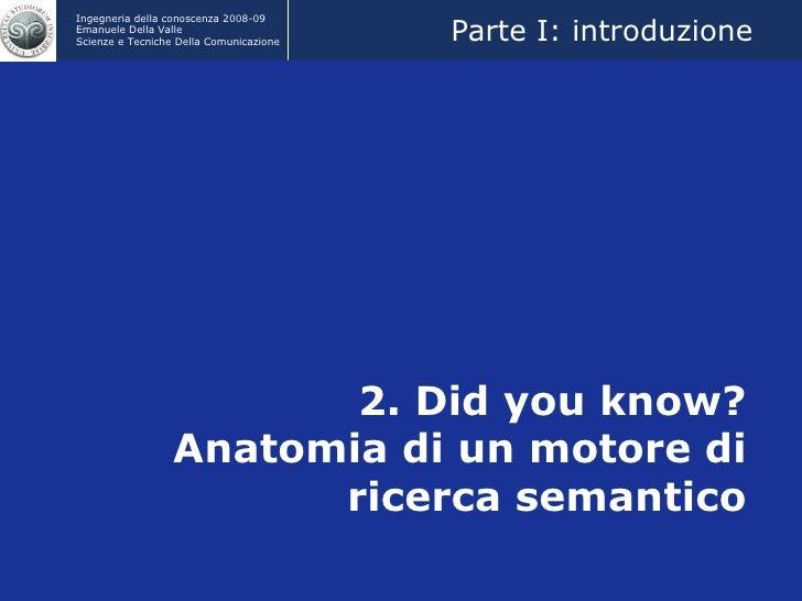 2. Did you know? Anatomia di un motore di ricerca semantico Parte I: introduzione
