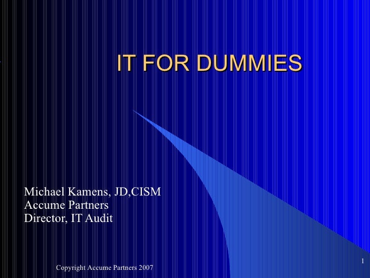 It For Dummies Kamens 081107