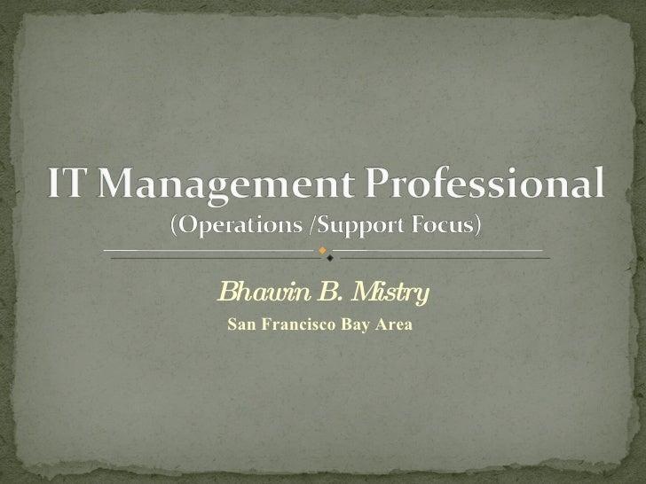 Information Technology Management Professional