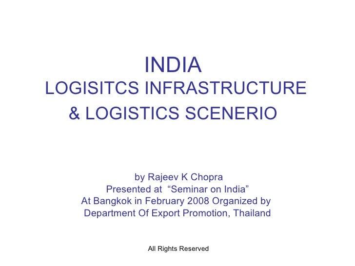 India Logistics Infrastructure