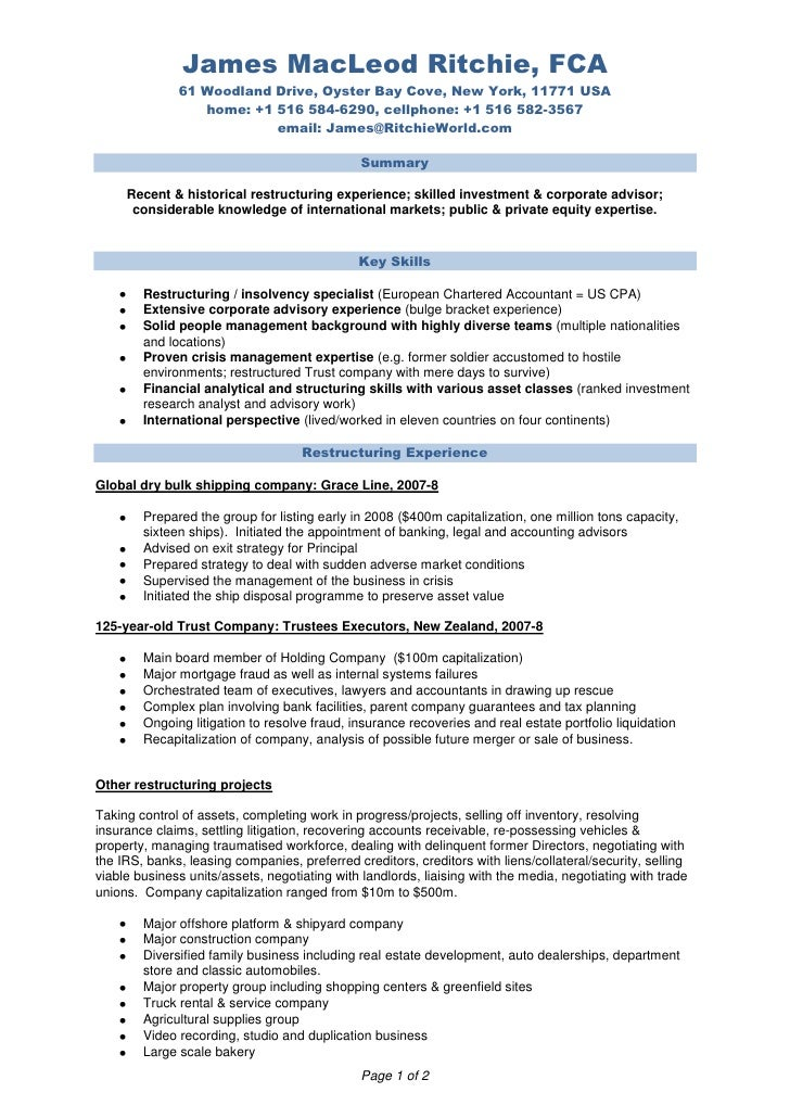 For Professional Accountant Cv