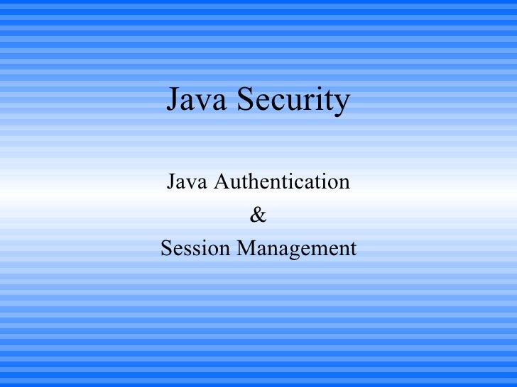Java Security And Authentacation