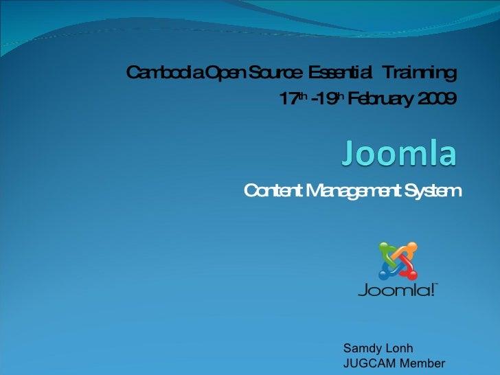 Cambodia Open Source Essential Training
