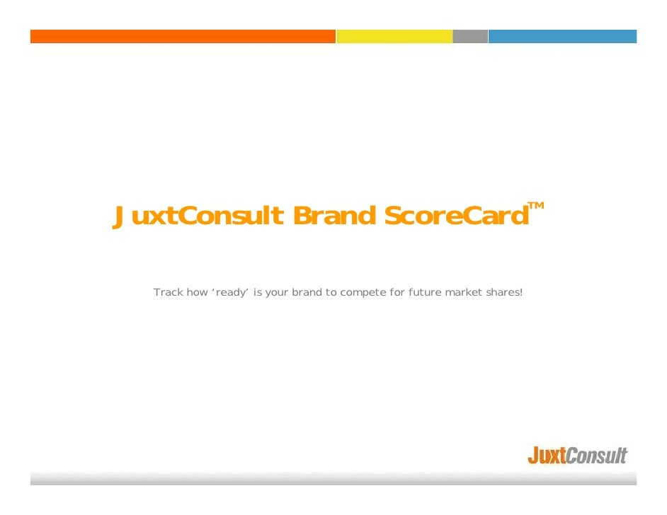 JuxtConsult Brand ScoreCard                                                                          TM       Track how 'r...