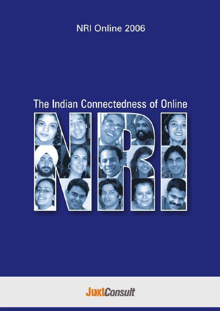 NRI Online 2006     Indian Connectedness of        Online NRI