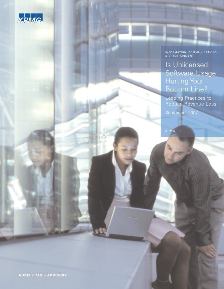 KPMG Survey: Is Unlicensed Software Usage Hurting Your Bottom Line