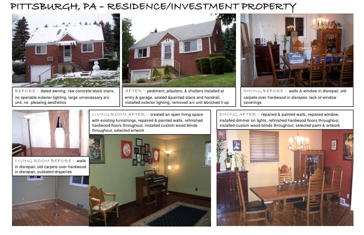 PITTSBURGH, PA – RESIDENCE/INVESTMENT PROPERTY     BEFORE – dated awning, raw concrete block stairs,           AFTER – ped...