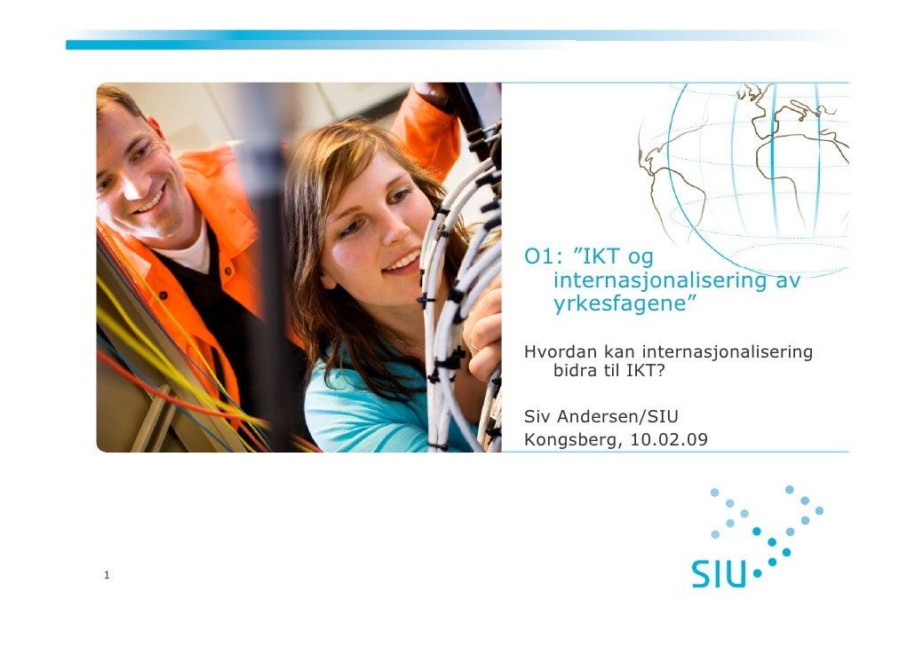 IKT og internasjonalisering i yrkesfagene