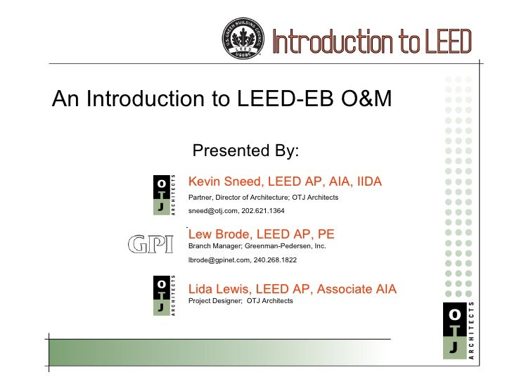 LEED-EB O&M Basics