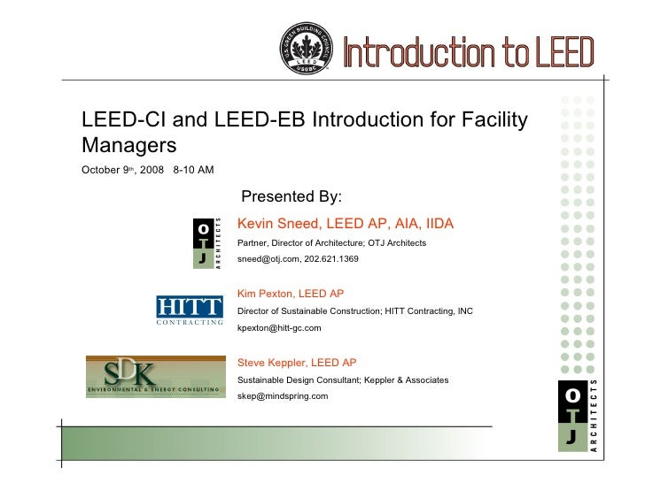 LEED-EB Presentation