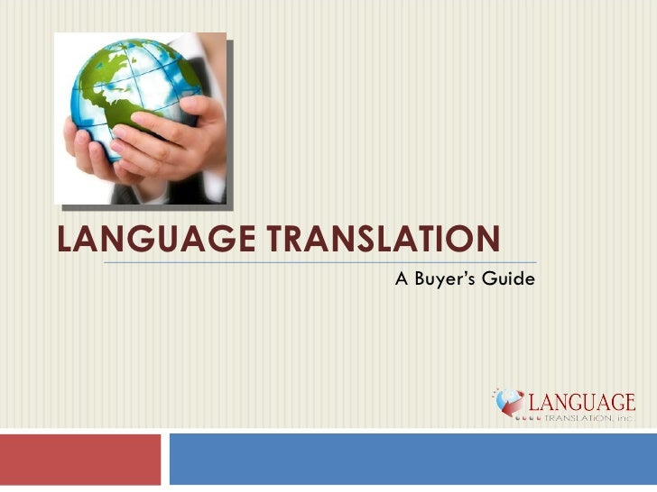 Language Translation Guide