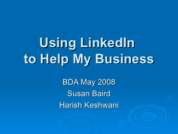 Overview of LinkedIn