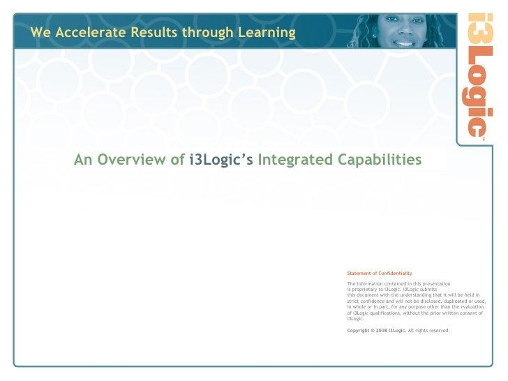 i3Logic Capabilities