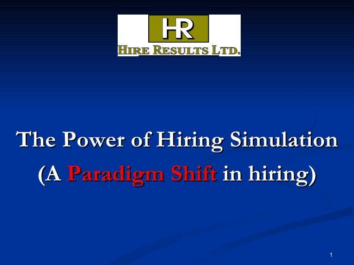 Linkedin The Power Of Hiring Simulation 2009