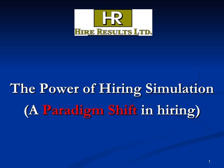 Linkedin The Power Of Hiring Simulation 2009