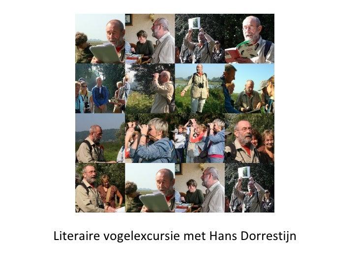 Literaire vogelexcursie met Hans Dorrestijn