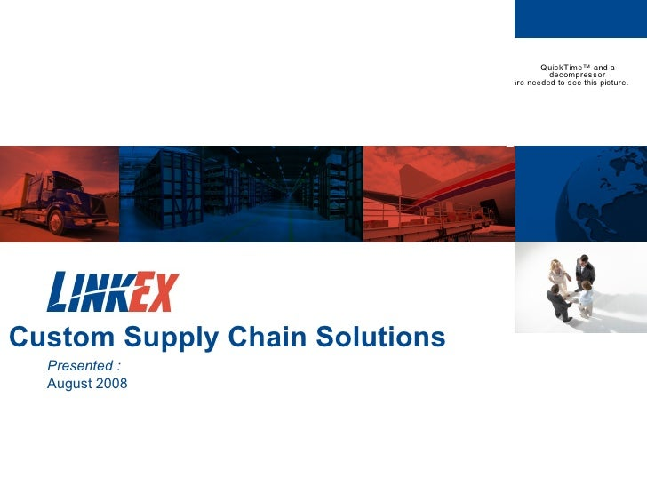 Custom Supply Chain Solutions  Presented : August 2008