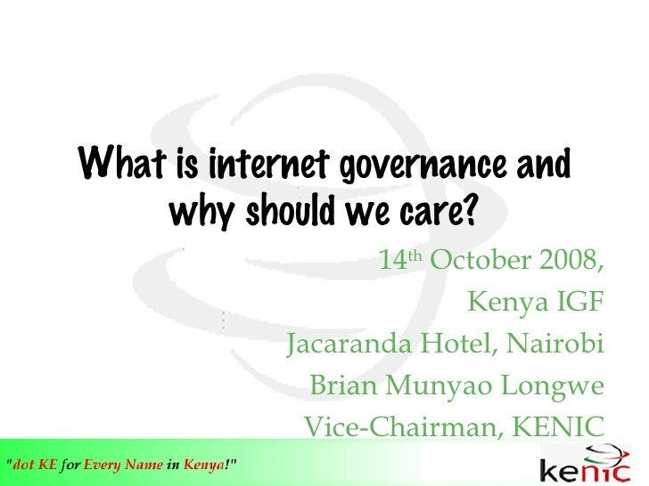 Internet Governance Backround