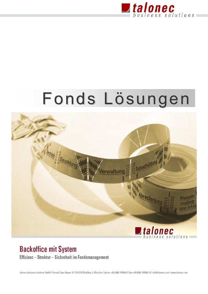 Fonds Lösungen