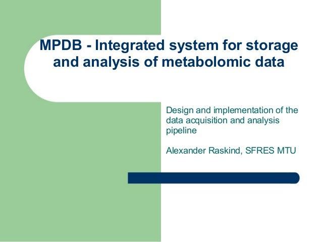 MPDB Presentation
