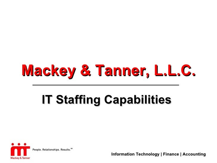 M&T It Staffing Capabilities