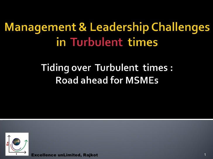 Management Challenges In Turbulent Times