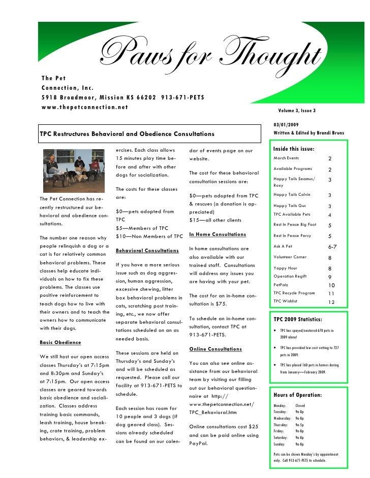 TPC March09 Newsletter