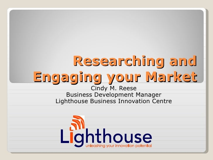 Market Engagement Seminar Nicta Bootcamp 11112008