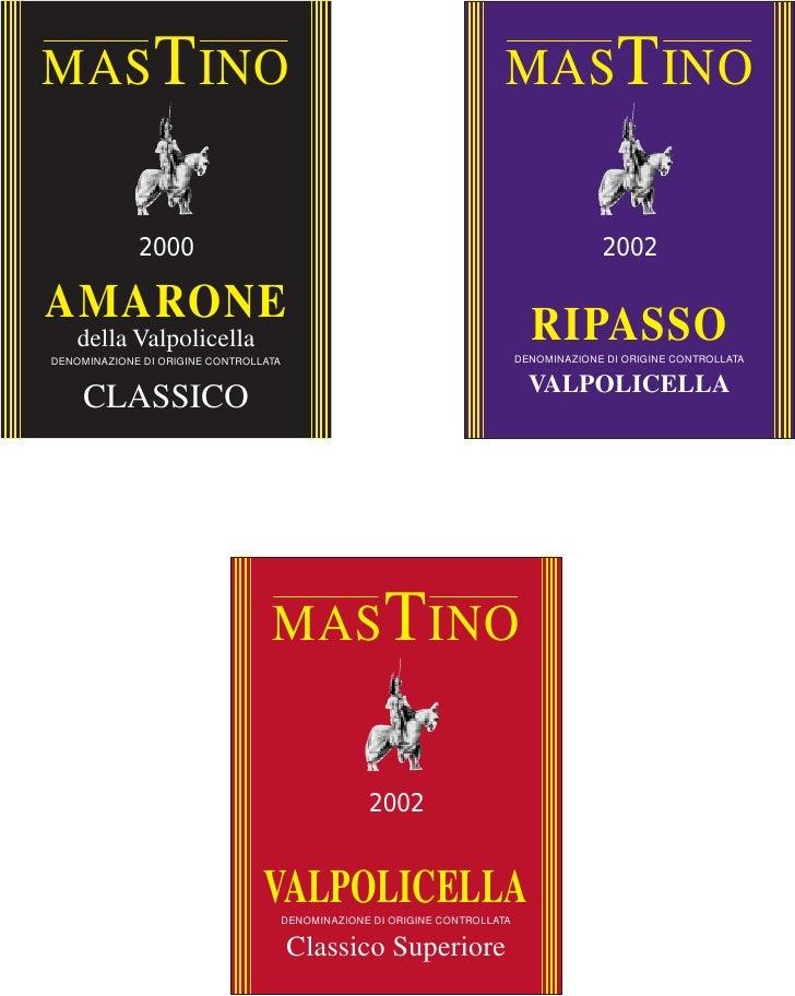 Mastino - new bottle labels