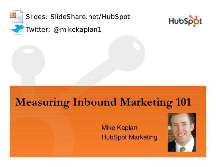 Measuring Inbound Marketing 101 HubSpot