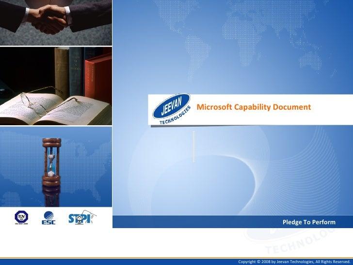 Microsoft Capability Doc Ver 1