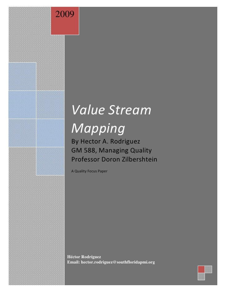 essay on value stream mapping These essays demonstrate how real companies have taken on the  view  seeing the whole value stream's value-stream maps at the links.