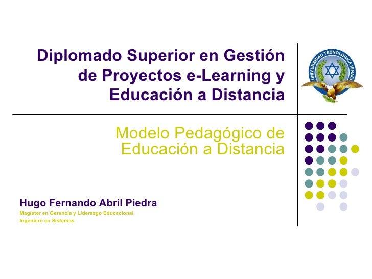 Modelo Pedagógico de Educación a Distancia