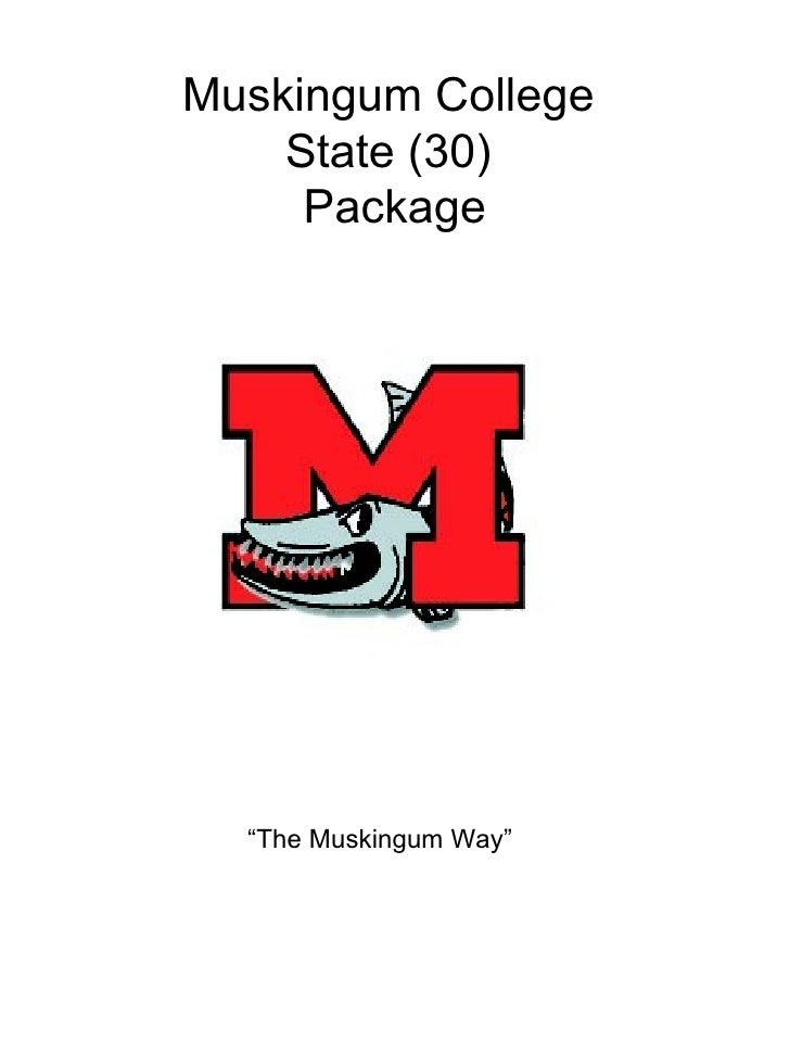 "Muskingum College  State (30)  Package ""The Muskingum Way"""