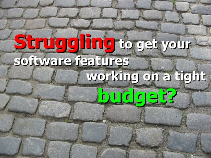 © 2009 Neev Nordica, a  Neev Technologies company Struggling  to get your  software features working on a tight  budget?