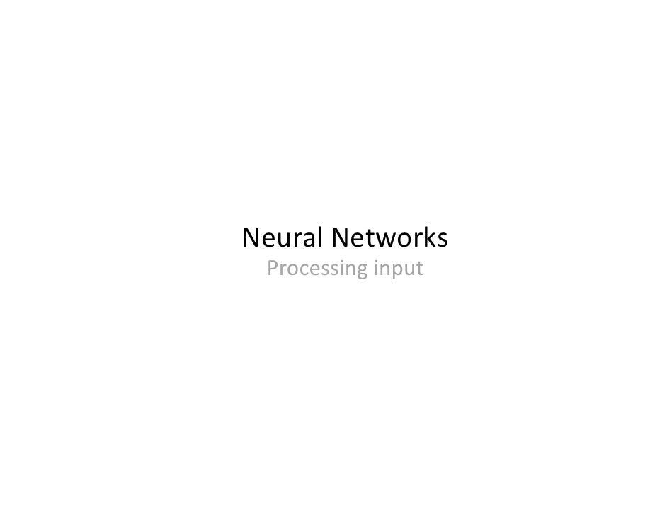 NeuralNetworks  Processinginput