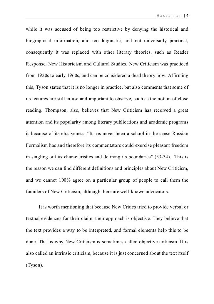 examples of a critical analysis essay - Template