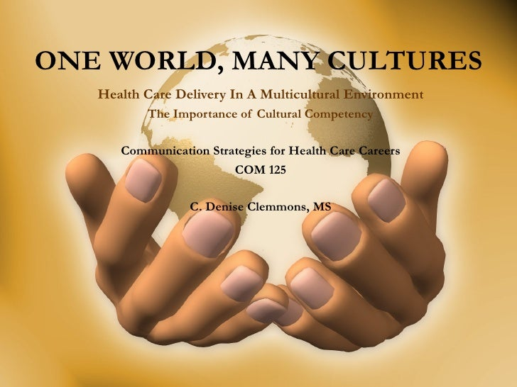 ONE WORLD, MANY CULTURES Health Care Delivery In A Multicultural Environment The Importance of Cultural Competency Communi...
