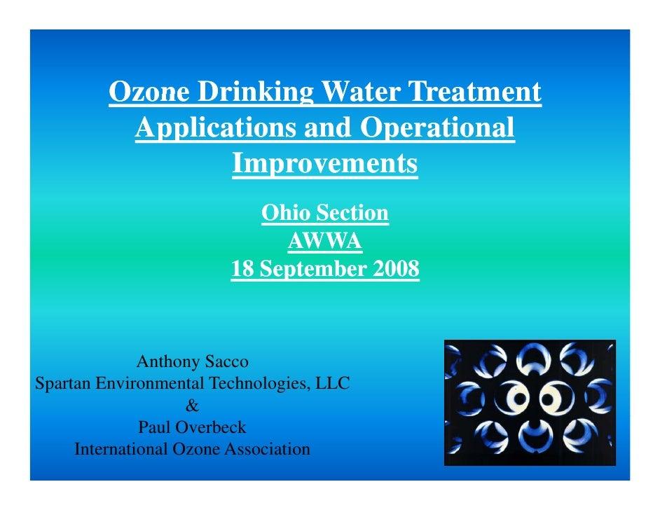 Ohio Awwa 2008 Ozone Drinking Water Treatment