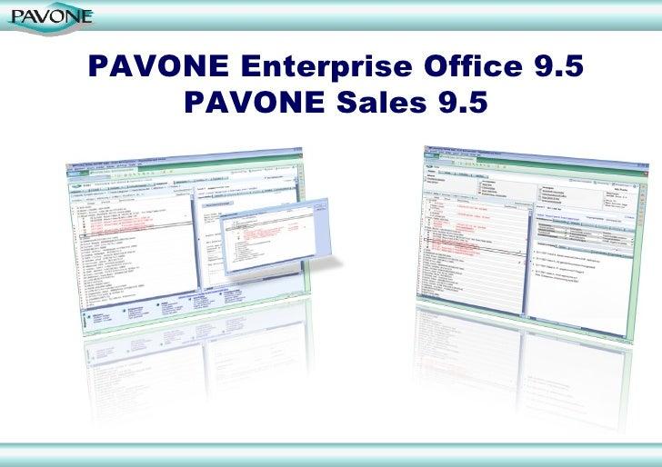 PAVONE Enterprise Office 9.5 PAVONE Sales 9.5