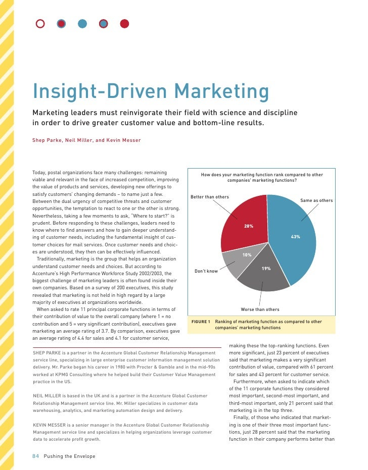 Insight-Driven Marketing Marketing leaders must reinvigorate their field with science and discipline in order to drive gre...