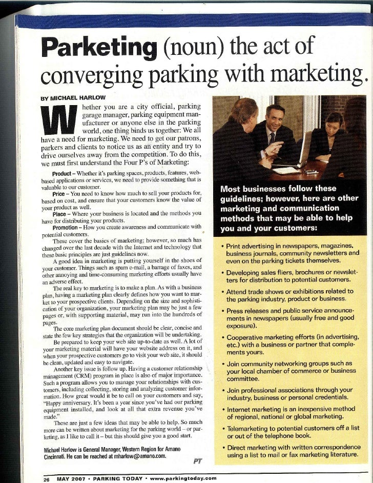 Parketing Article